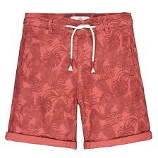 """<b>Бермуды</b> с принтом """"листья"""", 3-12 лет красный наб. рисунок <b>La</b> ..."""