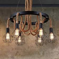 Buy CITRA <b>Vintage Industrial Pendant Lights</b> 6 Heads Retro Loft ...