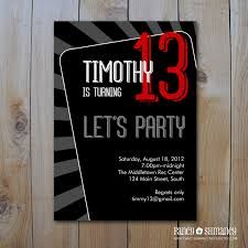 teen birthday invite teen boy s birthday invitation let s party printable invitation item 81312b