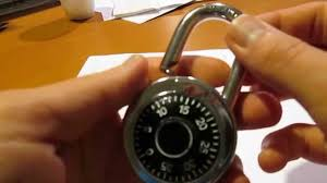 How to unlock a combination lock (no paper, no pens, no aluminum ...