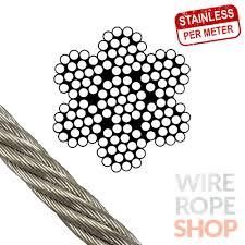 7x19 strand <b>stainless steel</b> wire rope 2mm 3mm <b>4mm</b> 5mm 6mm ...