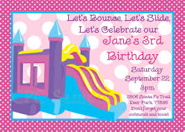 birthday party invitations bounce house birthday cake another picture of birthday party invitations bounce house