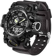 Men's Military Watch, Dual-Display Waterproof Sports ... - Amazon.com