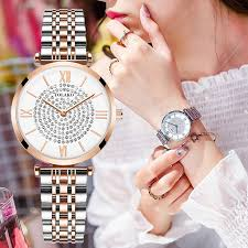 Gypsophila Diamond Design <b>Women</b> Watches Fashion Silver ...