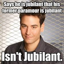 Says he is jubilant that his former paramour is jubilant Isn't ... via Relatably.com
