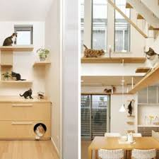 modern cat tree furniture cat friendly house design from japan hauspanther chic cat furniture