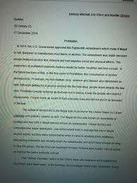 quizzes and essays   lindsays e portfolio prohibition essay