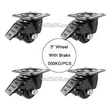 "DHL Shipping <b>4PCS</b> 3"" <b>heavy</b> duty wheels with brake load bearing ..."