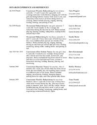 nanny resume nanny samples a a cover letter gallery of how to write a nanny resume