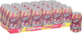 Barr American <b>Cream Soda</b> Fizzy Drink Cans, 330ml, (Pack of 24 ...