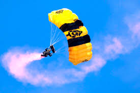 u s department of defense photo essay a u s army ier assigned to the u s army golden knights parachute demonstration team steers his