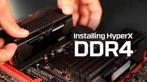 Как установить <b>модуль памяти</b> DDR4 | <b>HyperX</b> - YouTube