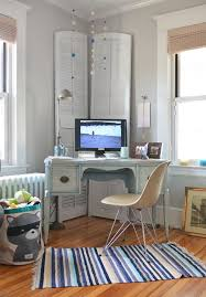 modern corner desk home office contemporary with antiques feminine radiator rustic chic corner office desk