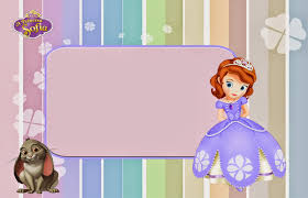 sofia the first printable invitations or photo frames is princess sofia the first printable invitations labels or cards