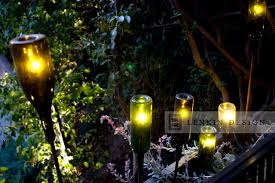 contemporary planter with wine bottle lighting eclectic landscape bottle lighting
