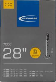 "<b>Камера Schwalbe SV20</b> EXTRA LIGHT 50mm 28"" черный цвет ..."
