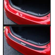 PU leather <b>Carbon fiber Styling After</b> guard Rear Bumper Trunk ...