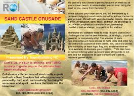 team building roi bay area team building and corporate events sand castle crusade