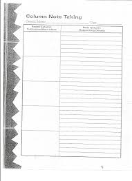 best images of two column notes form cornell note taking two column note organizer