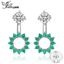 2019 <b>JewelryPalace Round 1.65ct Created</b> Emerald Earrings Jacket ...