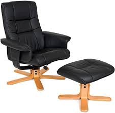 TecTake Faux Leather <b>TV Armchair</b> Recliner with Footstool Relaxer ...