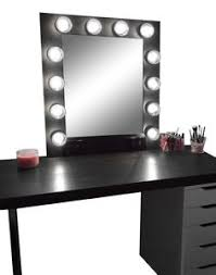 hollywood vanity makeup mirror with lights built in digital led dimmer and power outlet black vanity lighting