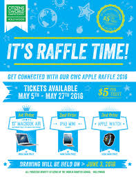 raffle cwc hollywood cwc appleraffle 2016 flyer v2