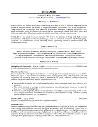 Endorsement Letter For Employment  maintenance resume template