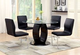 modern dining room black glass