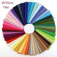 Cotton Fabric 15/50pcs <b>Patchwork</b> Craft <b>Quilting</b> Cloth Textiles <b>Solid</b> ...