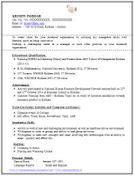 best one page resume sample resume format one page