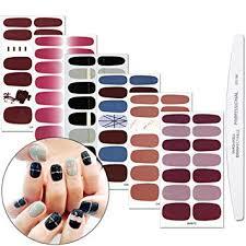 WOKOTO 6 Sheets Full Nail Stickers Pure Color ... - Amazon.com