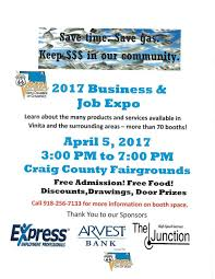 vinita area chamber of commerce business job expo  chamber business expo application 2017 pdf