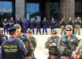 Resultado de imagem para policiamento na camara de vereadores de mossoró fotos