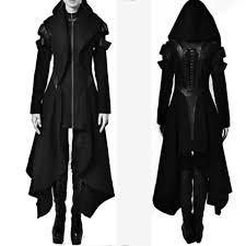 <b>2018 Autumn</b> Women <b>Gothic Trench</b> Vintage Solid Hooded Long ...