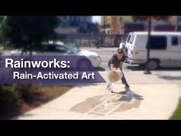 Rainworks - Rain-Activated <b>Art</b> - YouTube