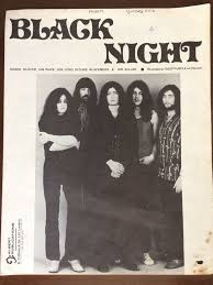 <b>DEEP PURPLE BLACK</b> NIGHT AUSTRALIAN MUSIC SHEET | eBay ...
