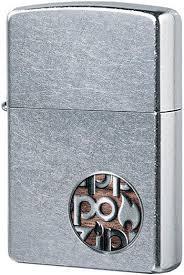 29872 <b>Зажигалка Zippo Button</b> Logo, Street Chrome