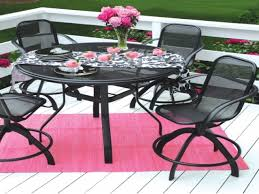 pink patio seating area