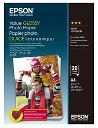 <b>Бумага</b> A4 20 шт. <b>Epson Value Glossy</b> Photo <b>Paper</b> — купить по ...