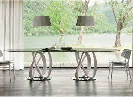 chair designpolished edges high table chairs oval crystal table infinity  ovale c logos collection by porada design