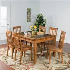 designs sedona table top base: sunny designs sedona  pc extension table w slate amp chair set