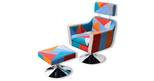 TV Armchair with Patchwork Design Fabric | Scooters ... - Dick Smith