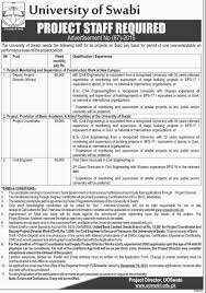 university of swabi job project coordinator civil engineer university of swabi job project coordinator civil engineer