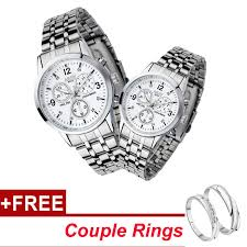 【Buy 1 Take 1】Nary <b>Hot Sale 2 Pcs</b>/<b>Set</b> Couple Watches Waterproof ...