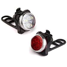 2 Pcs <b>USB Charging Bicycle Taillight</b> LED Bike Rear Light Bicycle ...