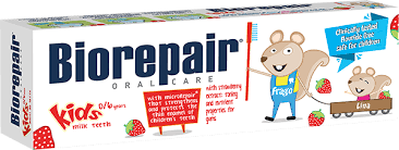 Toothpaste Kids 0/6 age with strawberry extract - Biorepair