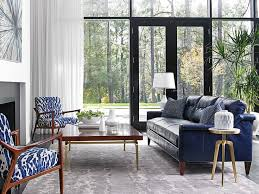 blue sofas living room: blue leather sofa  living roomleather