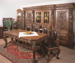 Dining Room Table 6 Chairs Baroque Style Hand Carved Furniture Dining Room Table 6 Chairs 2