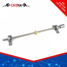 1 set t8 trapezoidal lead 8mm pitch 2mm screw brass nut kp08 bearings bracket 5 to coupling moving system kit